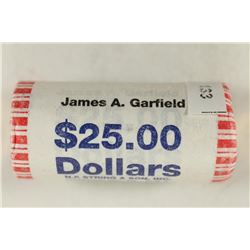 $25 ROLL OF 2011 JAMES GARFIELD PRESIDENTIAL