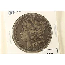 1891-CC MORGAN SILVER DOLLAR RIM DINGS