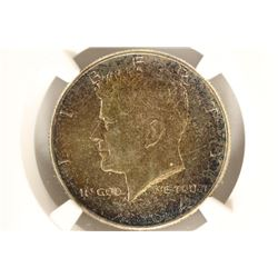 1964 90% SILVER KENNEDY HALF DOLLAR NGC MS65 TONED