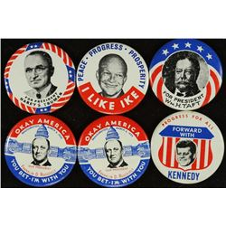 6-1 1/2'' POLITICAL BUTTONS REPRODUCTIONS