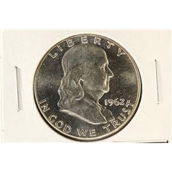 1962 FRANKLIN HALF DOLLAR BRILLIANT UNC