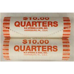 2-$10 ROLLS OF 2009-P & D GUAM QUARTERS BU