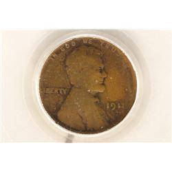 1911-S LINCOLN CENT (SEMI-KEY) PCGS G06