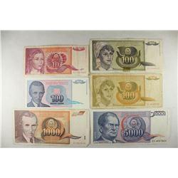 YUGOSLAVIA 1990 TEN DINARA, 1991-ONE HUNDRED