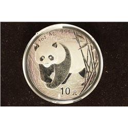 2002 CHINA SILVER 10 YUAN PANDA  (PF LIKE)