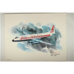 8 1/2'' X 11'' FRAMEABLE VICKERS VISCOUNT 1955-