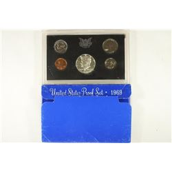 1969 US PROOF SET WITH BOX, 40% SILVER JFK HALF