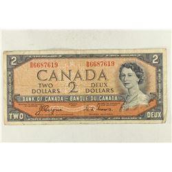 1954 CANADA DEVIL FACE $2 BILL