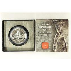 2003 CANADA BRILLIANT UNC SILVER DOLLAR 100TH
