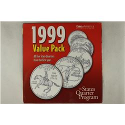 ALL 5-1999-P & D STATE QUARTERS SETS DELAWARE,