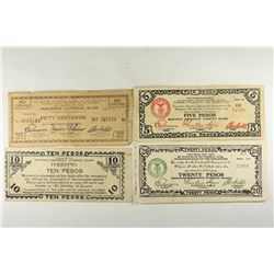 4 PIECES OF WWII PHILIPPINE EMERGENCY CURRENCY