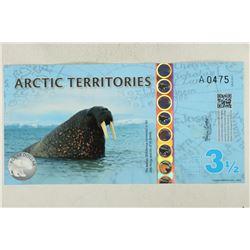 2014 ARCTIC TERRITORIES 3 1/2 POLAR DOLLARS