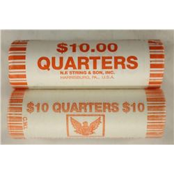 2-$10 ROLLS OF 2000-D MARYLAND AND 2008-D