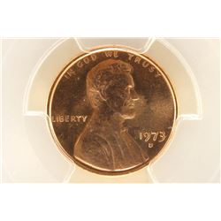 1973-D LINCOLN CENT PCGS MS65RD