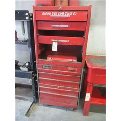 "2 Stacked Tool Cabinets 8 Drawers Bottom Cabinet- ""Snap On"""