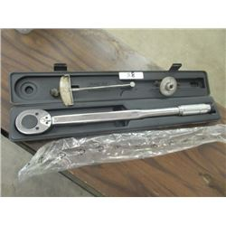 "3 Items Power Fist 3/4"" 300 LB Torque Wrench Like New In Case, 3/8"" Torque Wrench, & !/2"" Angle"