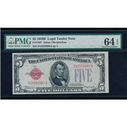 1928B $5 Legal Tender Note PMG 64EPQ