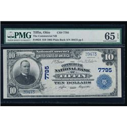 1902 $10 Commercial National Bank Note PMG 65EPQ