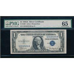 1935A $1 Silver Certificate PMG 65