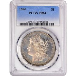1884 $1 Morgan Silver Dollar Proof Coin PCGS PR64