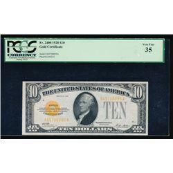 1928 $10 Gold Certificate PCGS 35