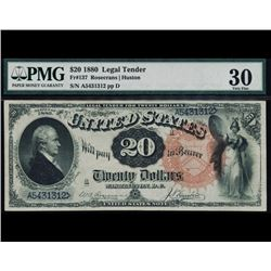 1880 $20 Legal Tender Note PMG 30