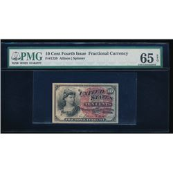 10 Cent Fourth Issue Fractional Note PMG 65EPQ