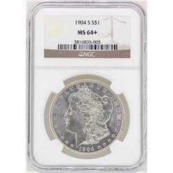 1904-S $1 Morgan Silver Dollar Coin NGC MS64+