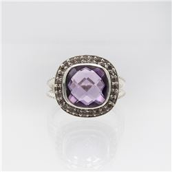 Beautiful Natural 4.8ct Amethyst Ring