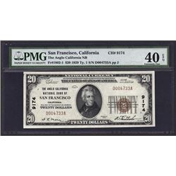 1929 $10 San Francisco National Bank Note PMG 40EPQ