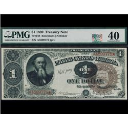 1890 $1 Treasury Note PMG 40