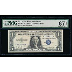 1957B $1 Silver Certificate STAR Note PMG 67EPQ