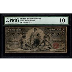 1896 $2 Educational Silver Certificate PMG 10