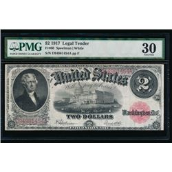 1917 $2 Legal Tender Note PMG 30