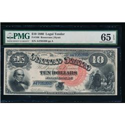 1880 $10 Jackass Legal Tender Note PMG 65EPQ