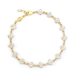 Plated 18KT Yellow Gold Diamond Bracelet
