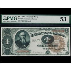 1890 $1 Treasury Note PMG 53
