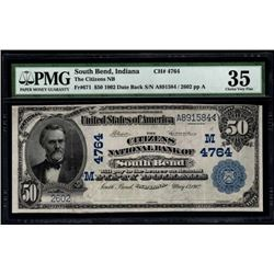 1902 $50 Citizens National Bank Note PMG 35