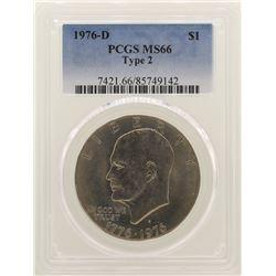 1976-D Eisenhower Dollar PCGS MS66