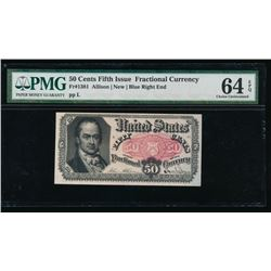 50 Cent Fifth Issue Fractional Note PMG 64EPQ