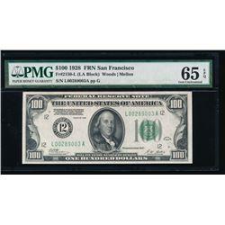1928 $100 San Francisco Federal Reserve Note PMG 65EPQ