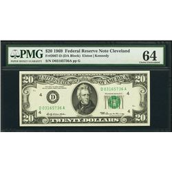 1969 $20 Cleveland Federal Reserve Note PMG 64