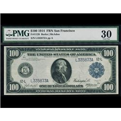 1914 $100 San Francisco Federal Reserve Note PMG 30
