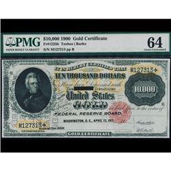 1900 $10,000 Gold Certificate PMG 64