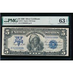 1899 $5 Chief Silver Certificate PMG 63EPQ
