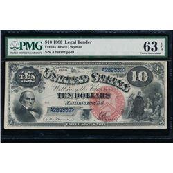 1880 $10 Jackass Legal Tender Note PMG 63EPQ