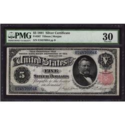 1891 $5 Silver Certificate PMG 30