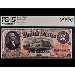 1878 $2 Legal Tender Note PCGS 35PPQ