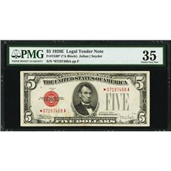 1928E $5 Legal Tender STAR Note PMG 35