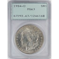 1904-O $1 Morgan Silver Dollar Coin PCGS MS63 Old Green Rattler